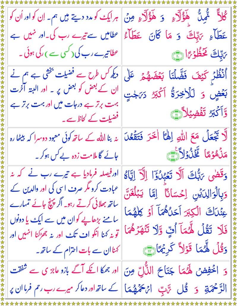 Read Surah Al-Isra Online