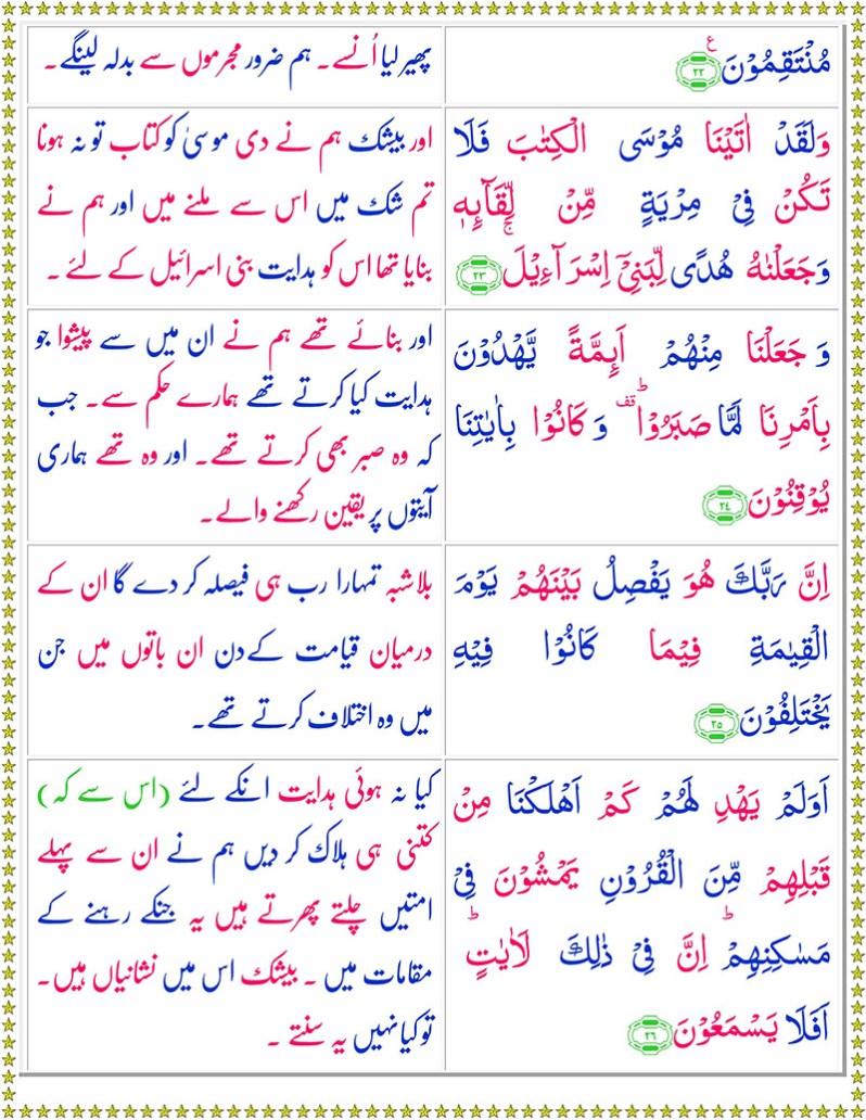 Read Surah As-Sajdah Online