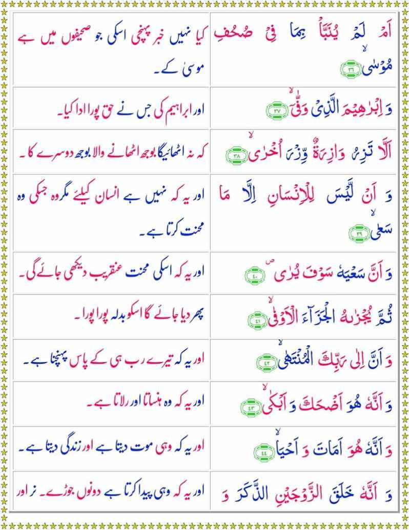 Read Surah An-Najam Online