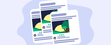A graphic showing duplicate posts. Indicating that the blog is about content syndication.