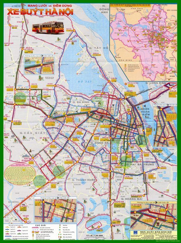 Bản đồ các tuyến xe bus Hà Nội năm 2020