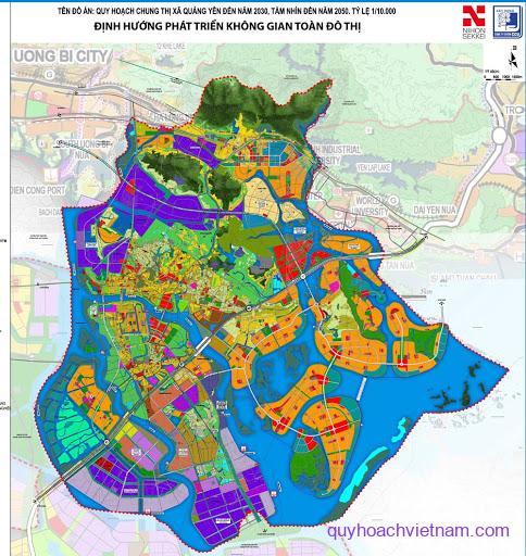 Bản đồ quy hoạch thị xã Quảng Yên Quảng Ninh