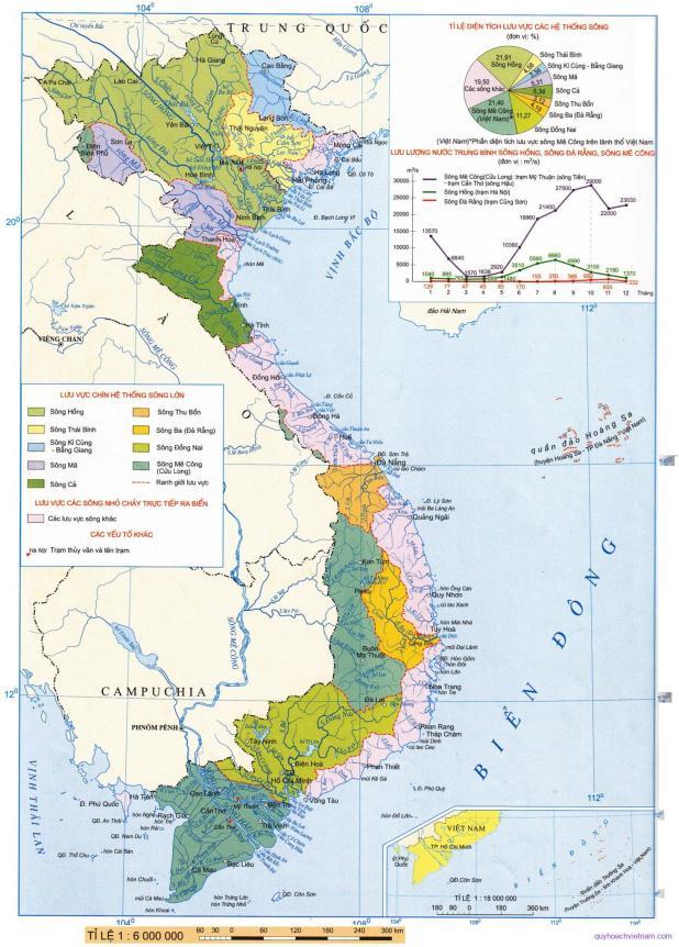 Bản đồ sông ngòi Việt Nam
