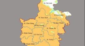 Thông tin bản đồ thành phố Hải Dương năm 2020