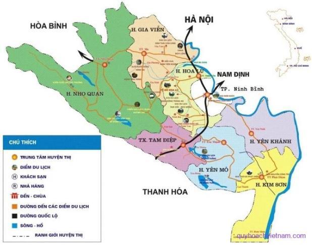 Bản đồ thành phố Ninh Bình