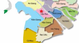Thông tin bản đồ miền Tây Nam Bộ Việt Nam năm 2020