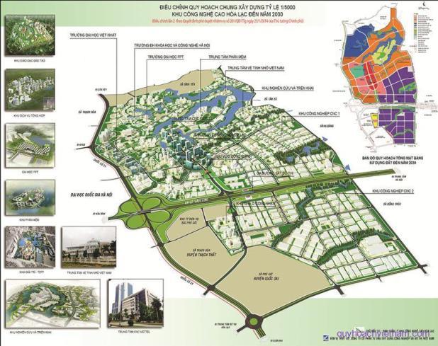 Quy hoạch chung siêu đô thị vệ tinh Hòa Lạc