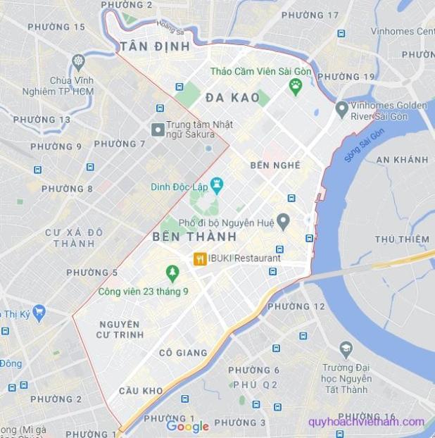 Bản đồ quận 1 Sài Gòn