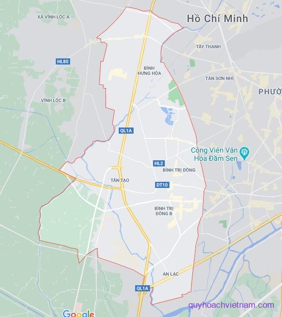 Bản đồ quận Bình Tân Sài Gòn