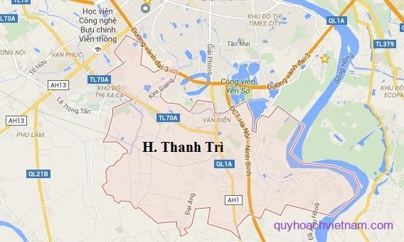 Bản đồ quy hoạch huyện Thanh Trì Hà Nội