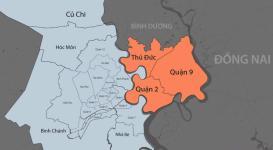 Bản đồ thành phố Thủ Đức 2021