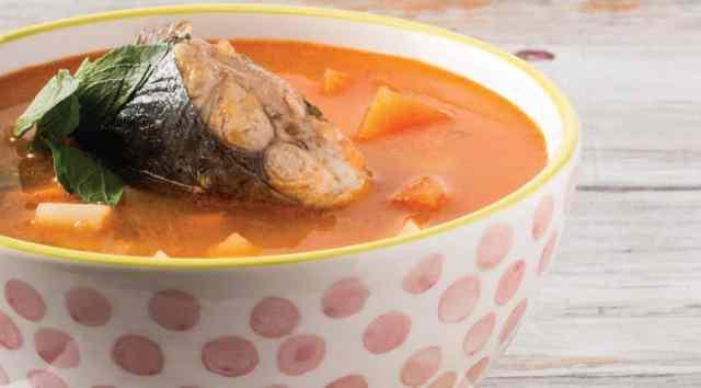 ¡Sabrosa sopa de pescado!