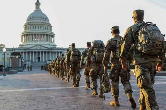 Washington simula una zona de guerra en vísperas a la toma de posesión de Joe Biden
