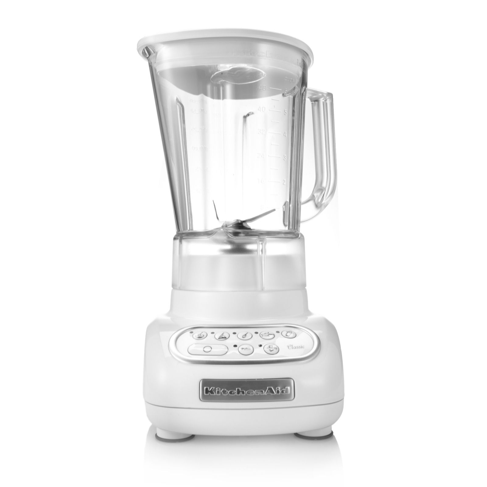 kitchen aid blenders metal table kitchenaid classic white blender qvc uk product thumbnail in stock