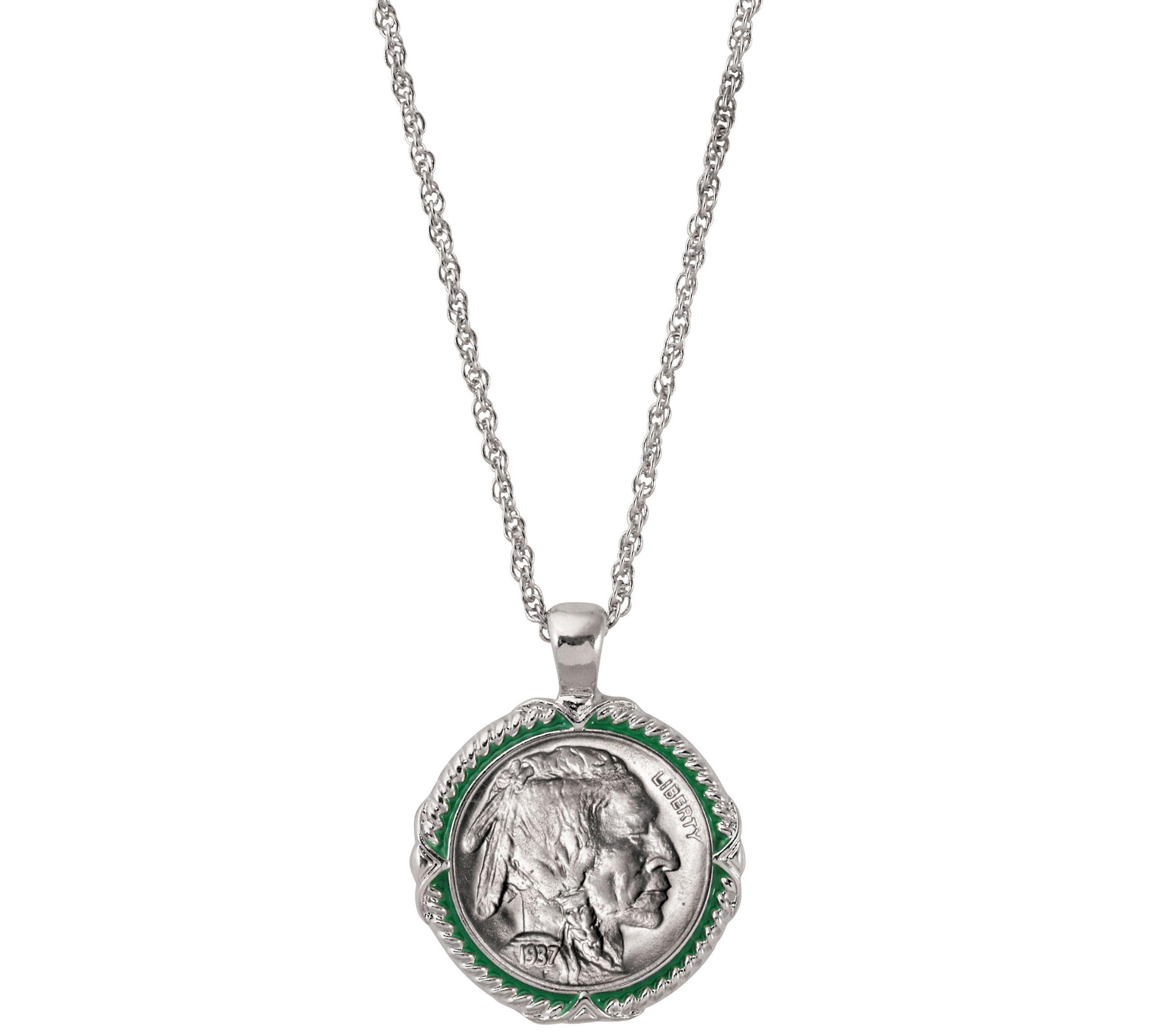 American Coin Treasures Buffalo Nickel Enamel Coin