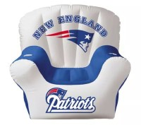 New England Patriots Inflatable Chair with twodrink ...