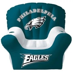 Philadelphia Eagles Chair Fishing Tcg Card Inflatable With Two Drink Holders Qvc Com
