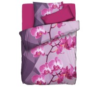 JERYMOOD MF Jersey Interlock Bettwsche Orchideen