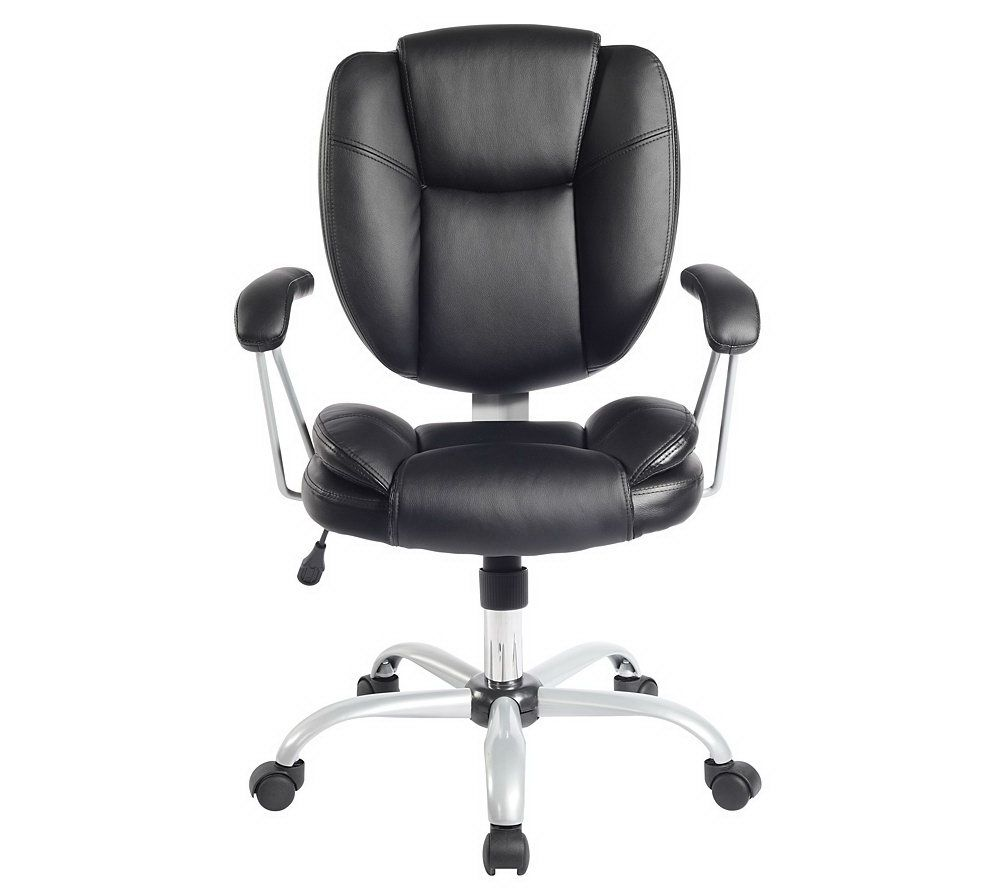 office chair qvc teak lounge with wheels techni mobili comfort support mid back page 1 com