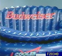 Budweiser Cooler Couch Inflatable Sofa and Cooler  QVC.com