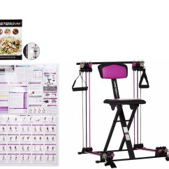 Chair Gym Reviews Wicker Dining Chairs And Table As Is Master Compact Fitness With Dvd Wall Chart Qvc Com