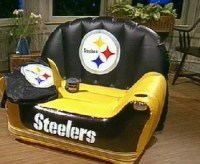 """Aero NFL Inflatable """"Chair in a Minute""""  QVC.com"""