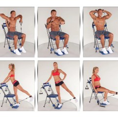 Chair Exercises On Cable Tv Hospital Chairs For Sale Qvc Gym Total Body Workout With 3 Level Resistance