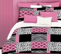 Veratex Pink Skulls Full Comforter Set  QVC.com