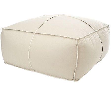 Large Poof Floor Pillow  QVCcom