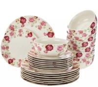 Porcelain Dinnerware Sets For 8 & Floral Porcelain Service ...