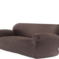 Stretch Morgan 1 Piece Sofa Furniture Cover Camel Colored Reclining Slipcovers Qvc Com Paulato By Gaico Caffee 3 Seater H210335