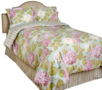 4-PC Queen Size Reversible Hydrangea Comforter Set By ...