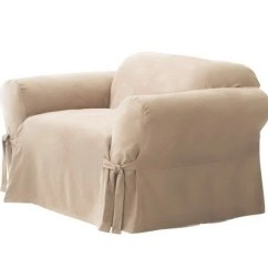 Sure Fit Stretch Metro 1 Piece Sofa Slipcover Gray Sectional With Queen Sleeper Slipcovers — Loveseat, Couch & Recliner Qvc.com