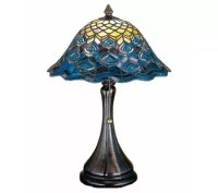 Tiffany Style Peacock Feather Accent Lamp - Page 1  QVC.com