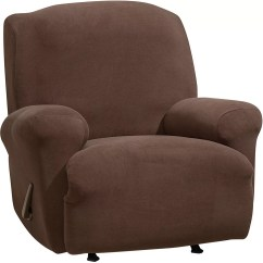 Stretch Morgan 1 Piece Sofa Furniture Cover Serta Sleeper Full Size Sure Fit Slipcovers Qvc Com Recliner Slipcover H294648