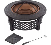 "Pure Garden 32"" Round Metal Fire Pit  QVC.com"