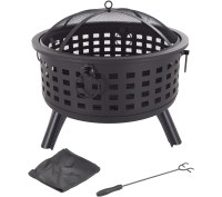 "Pure Garden 26"" Round Metal Fire Pit  QVC.com"