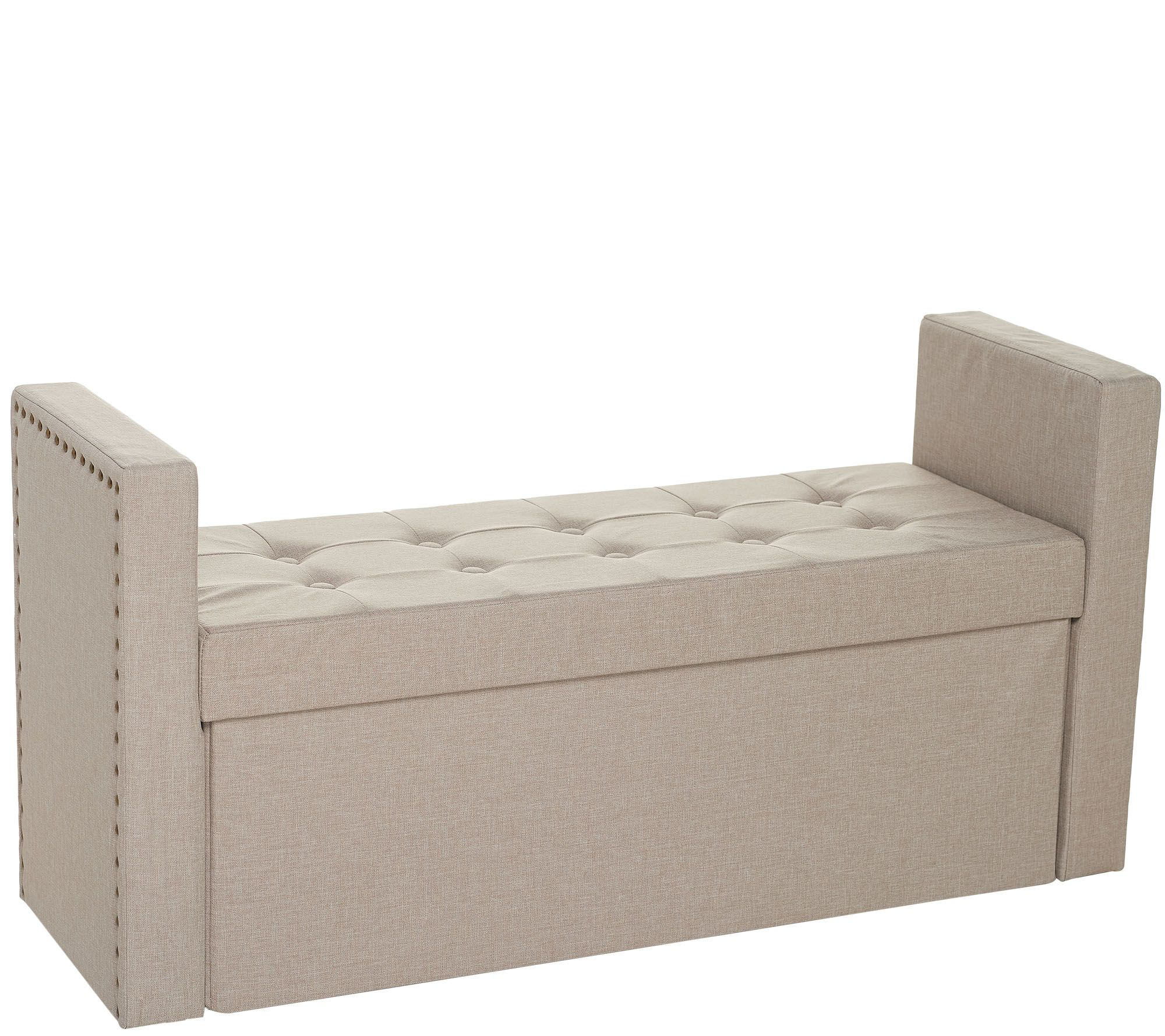 Inspire Me Home Decor 45 Collapsible Storage Bench With
