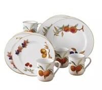 Royal Worcester Evesham Gold-Trimmed 12 pc Dinnerware Set ...