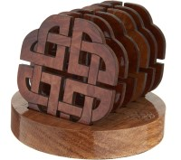 Monson Set of 6 Wooden Coasters with Holder - Page 1  QVC.com
