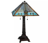 Meyda Tiffany-Style Mission Rose Table Lamp  QVC.com