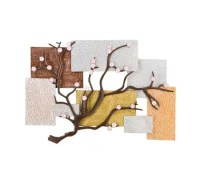 Cherry Blossom Metal Wall Art