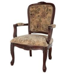 Queen Ann Chairs Office Chair Price List Thomas Pacconi Hand Carved Upholstered Anne Arm Qvc Com