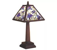 Tiffany Style Mosaic Iris Accent Lamp - Page 1  QVC.com