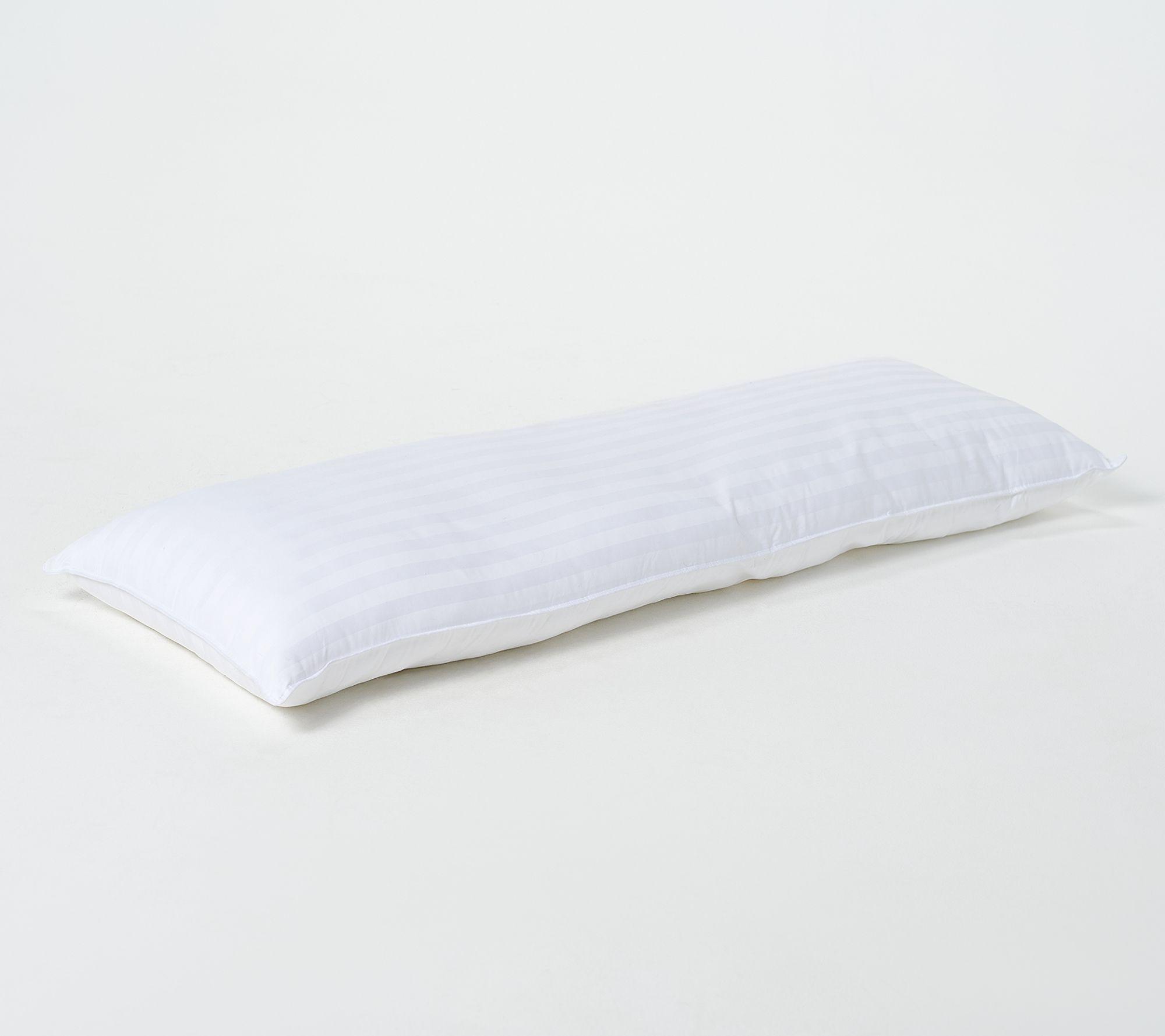 northern nights 350tc hotel 20 x 54 plush body pillow qvc com