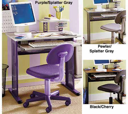 office chair qvc contemporary chairs 2 pc computer desk set com in stock