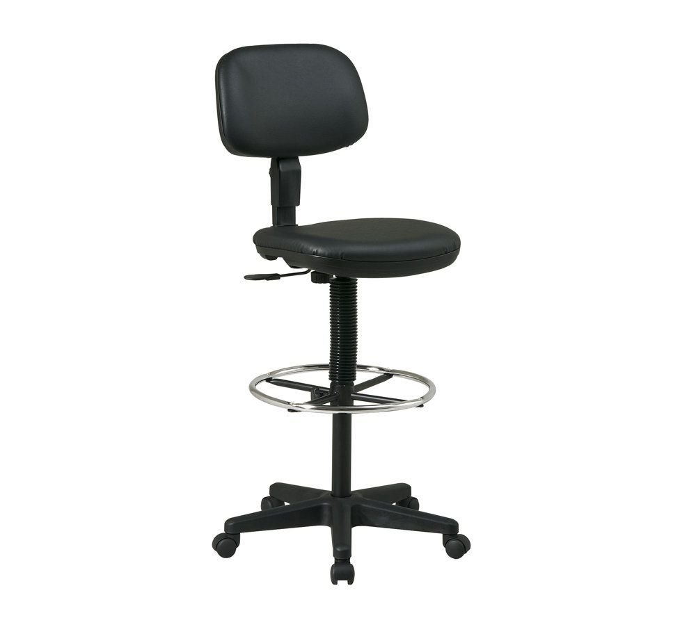 office chair qvc beach low star black vinyl drafting com in stock