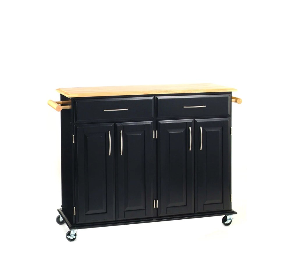 Home Styles Dolly Madison Kitchen Island Cart Page 1 — QVC Com