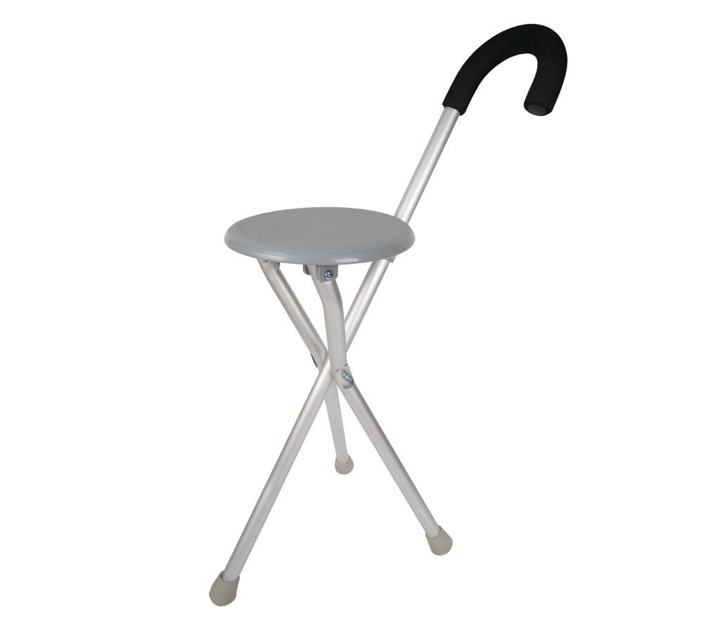 walking cane chair land of nod chairs travelon seat and in one page 1 qvc com stock