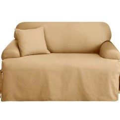 Sure Fit Logan Sofa Slipcover Leather Bed Sale 1 Piece T Cushion Qvc Com Product Thumbnail In Stock